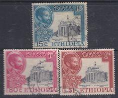 Ethiopie N° 298 +300 / 01 O : Partie De Série : 55 Ann. De La Bataille D' Adoua, Les 3 Valeurs Oblitérées, Sinon TB - Ethiopie