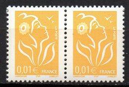 Col12 France Variété Marianne Lamouche  N° 3731a / 3713  1 Paire Sans Pho   Neuf XX MNH Luxe - Variétés Et Curiosités