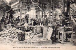CPA De BELLENGREVILLE - Façonnage Des Bois De Brosses. - Altri Comuni