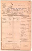 ADEKAR KEBOUCHE Constantine Algérie 1929 Bordereau Valeure 1485 ENTIEREMENT Recouvré Donc Sans Timbre Taxe Type FB 04 - Briefe U. Dokumente