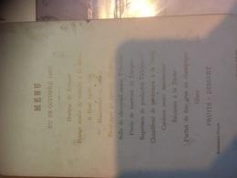 Restaurant Colon - Menu 28/10/1895 Sauwen-jehotte - Menus