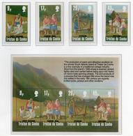 1984 - TRISTAN DA CUNHA - Yv.  Nr. 358/361 + BF 16 - NH - (UP131.9) - Tristan Da Cunha
