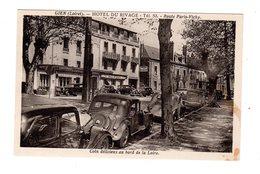 CPA 45 - Gien - Hôtel Du Rivage - Route Paris Vichy , Citroën Traction - Gien