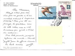 Europe-SAN-MARINO-Garde D'Honneur Palais Du Gouvernement- -PUB.Collection AMORA-TIMBRE-Obliteration-1960 - San Marino