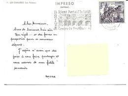 Espagne-Les CANARIES-Circuit Amora -PUB.Collection AMORA-TIMBRE-Obliteration-1964-1965- - La Palma