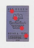 Reichsbahndirektion Essen Deutsche Reichsbahn Billet De Chemin De Fer Allemand RARE - Chemins De Fer