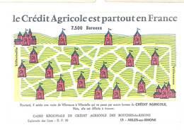 Buvard Crédit Agricole Partout En France , Arles Sur Rhône - Bank & Insurance
