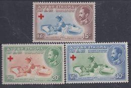 Ethiopie N° 330 / 32 XX : 20 ème Anniversaire De La Croix-Rouge, Les 3 Valeurs Sans Charnière, TB - Ethiopie