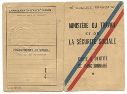 Carte D'identité De Fonctionnaire 1950 - Old Paper