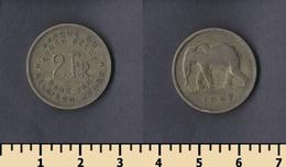 Belgian Congo 2 Francs 1947 - Congo (Belgian) & Ruanda-Urundi