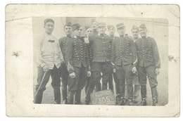 Cpa Carte-photo Groupe De Soldats, 305eme ?, Envoyée à Cairanne Par Sainte Cécile ( Vaucluse ) (état) - Personnages
