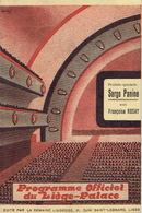 LIEGE 1939 - Programme Cinéma LIEGE-PALACE - 12 PAGES - Illustrateur MONTFORT - Françoise ROSAY & Pierre RENOIR - Programmes