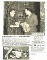 "PUB  VIN "" HENRI MAIRE  ""  1957 ( 3 ) - Andere Flessen"