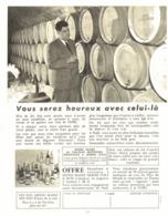 "PUB  VIN "" HENRI MAIRE  ""  1957 ( 4 ) - Andere Flessen"