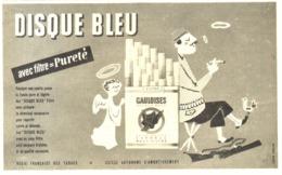 "PUB CIGARETTES   "" DISQUE BLEU "" Par JEAN COLIN  1957 (1) - Tabac (objets Liés)"