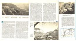 """LA ROUTE AERIENNE De   """" LONGUIERS  """"  PEYRELEAU / MONTPELLIER-LE-VIEUX  1957 - Languedoc-Roussillon"""