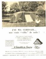 "PUB TENTE  "" TRIGANO  ""  1957 (1) - Camping"