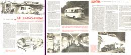 """ LE CARAVANING "" CARAVANES CAMPING-CAR ( SA SITUATION , SON AVENIR ) 1957 - Camping"