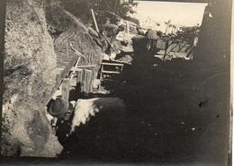 PHOTO ALLEMANDE - CONSTRUCTION D'UNE TRANCHEE DU 6e IR  A CHAUVONCOURT PRES DE SAINT MIHIEL - MEUSE GUERRE 1914 1918 - 1914-18