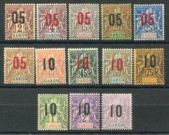RC 11536 GABON N° 66 / 78 - GROUPE SURCHARGÉS SERIE COMPLETE COTE 33€ NEUF ** TB - Gabon (1886-1936)