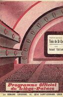 LIEGE 1939 - Programme Cinéma LIEGE-PALACE - 12 PAGES - Illustrateur MONTFORT - L. BAROUX, P. LARQUAY, R. TOUTAIN - Programmes