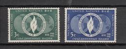 NATIONS  UNIES  NEW-YORK  1952   N° 13 - 14     NEUFS**   CATALOGUE YVERT&TELLIER - New York -  VN Hauptquartier