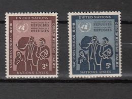 NATIONS  UNIES  NEW-YORK  1953   N° 15 - 16     NEUFS**   CATALOGUE YVERT&TELLIER - New York -  VN Hauptquartier