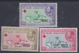Ethiopie N° 349 / 51 XX : Centenaire De L'idée Croix-Rouge, Les 3 Valeurs Sans Charnière, TB - Ethiopie