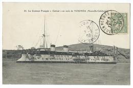 CPA Bateau Navire De Guerre Croiseur Catinat à Nouméa Nouvelle Calédonie - Guerre