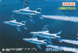 Carte Prépayée Japon - AVIATION - AVION MILITAIRE - MILITARY AIRPLANE - Japan Passnet Lion Card - 2220 - Avions