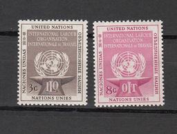 NATIONS  UNIES  NEW-YORK  1954   N° 27 - 28     NEUFS**   CATALOGUE YVERT&TELLIER - Ungebraucht