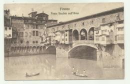 FIRENZE - PONTE VECCHIO SULL'ARNO   - VIAGGIATA FP - Firenze