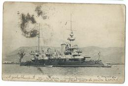 CPA Bateau Navire De Guerre Cuirassé Hoche - Guerre