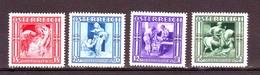 AUSTRIA AUTRICHE AUSTRIAN 1936  SOCCORSO INVERNALE Compl. 4val  MNH** - 1918-1945 1. Republik
