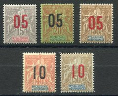 RC 11545 NOUVELLE CALEDONIE N° 105 / 109 GROUPE SURCHARGÉS SERIE COMPLETE COTE 16€ NEUF ** TB - New Caledonia