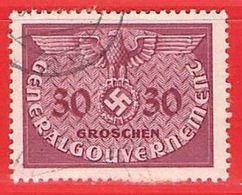 MiNr.7 O Deutschland Besetzungsausgaben II. Weltkrieg Generalgouvernement ,Dienstmarken - Occupazione 1938 – 45