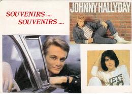 JOHNNY HALLYDAY  Carte Postale - Artiesten