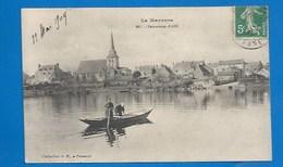 53 - AZÉ - PANORAMA - TRAVERSÉE EN BARQUE - 1909 - France