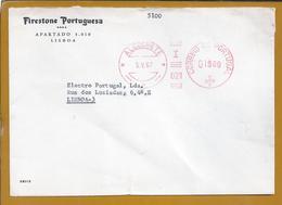 Franquia Mecânica Da Antiga Fábrica De Pneus Da Firestone Portuguesa, Em Alcochete, Circulada 1967. Setúbal. Reifen. - Fábricas Y Industrias