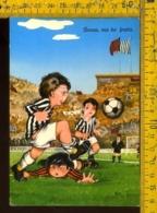 Bambini Umoristica Calcio Milan Juventus - Cartoline Umoristiche