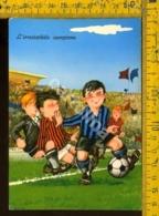 Bambini Umoristica Calcio Inter Milan - Cartoline Umoristiche