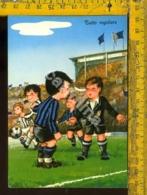 Bambini Umoristica Calcio Inter Juventus - Cartoline Umoristiche