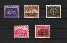 1941 - Fondation Carol Surcharges CHISINAU  Mi No 691 II/695 II MNH - 1918-1948 Ferdinand, Carol II. & Mihai I.
