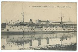 CPA Bateau Navire De Guerre Cuirassé  Croiseur Le Bugeaud Rochefort Sur Mer - Guerre