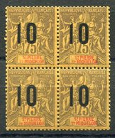 RC 11549 SAINT PIERRE ET MIQUELON SPM N° 103 - 10 / 75c GROUPE SURCHARGÉS BLOC DE 4 COTE 24€ NEUF ** TB - St.Pierre & Miquelon
