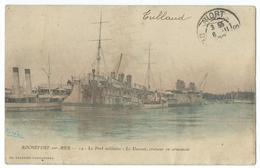 CPA Bateau Navire De Guerre Cuirassé  Croiseur Le Davout Rochefort Sur Mer - Guerre