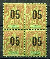 RC 11551 SAINT PIERRE ET MIQUELON SPM N° 97 - 05 / 20c GROUPE SURCHARGÉS BLOC DE 4 COTE 5€ NEUF ** TB - St.Pierre & Miquelon