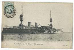 CPA Bateau Navire De Guerre Cuirassé Jauréguiberry - Guerre