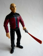 FIGURINE PLAYMATES TOYS 1993 STAR TRECK NEXT GENERATION - Cpt JEAN LUC PICARD AVEC LASER - Star Trek