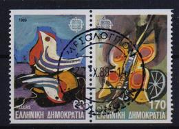 GREECE STAMPS EUROPA 1989 /HORIZONTALLY IMPERFOR(SE-TENANT) -22/5/89-CANCELLATION WITH FIRST DAY ISSUE POST-COMPLETE SET - Gebraucht